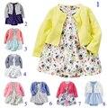 Varejo 2017 verão crianças bebes dress bebê dress100 % algodão meninas vestidos lindo borboleta infantis roupas recém-nascidos tamanho 6-24 m