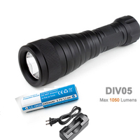 Brinyte DIV05 LED Diving Light CREE XML2 1000lm LED Scuba Diving Torch Diving Flashlight 200M Underwater Lamp
