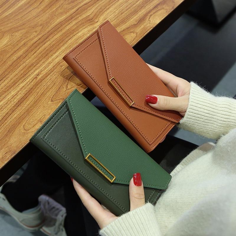 2019 New Fashion Women Wallets Leather Hasp Wallet Women's Long Design Purse Clutch Women Lady Wallet Cartera Mujer