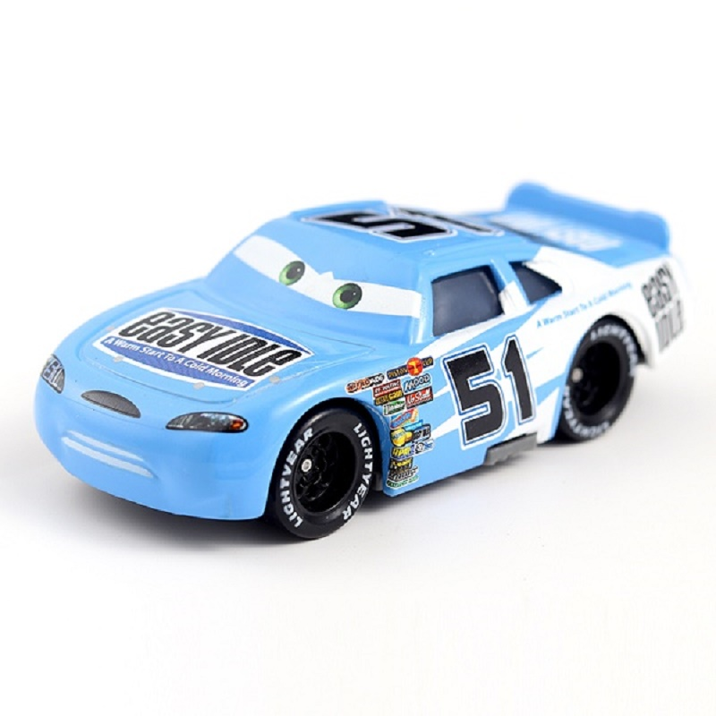 Cars Disney Pixar Cars No.51 Easy Idle Metal Diecast Toy Car 1:55 Loose Brand New Disney Cars2 And Cars3 Free Shipping