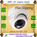 Color blanco 24 Led CCTV Cámara de Red del IR HD 960 P Interior Seguridad de la bóveda de Vigilancia CCTV ONVIF P2P 2MP Cam IR Cut Filtro lente