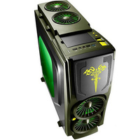 Game Computer case Army Green 120mm fan *5, 7 PCI slots USB3.0 Free Tools gameing gamer computer Game Titans Blade3