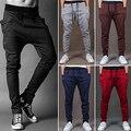 Homens Da Moda Harem Pants calça Casual Sweatpants Calças Cair Calças Virilha