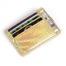 Korean Version Of PU Laser Sequins Women Card Package Fashion Credit Holder,Wallet For Cards,Credit Wallet