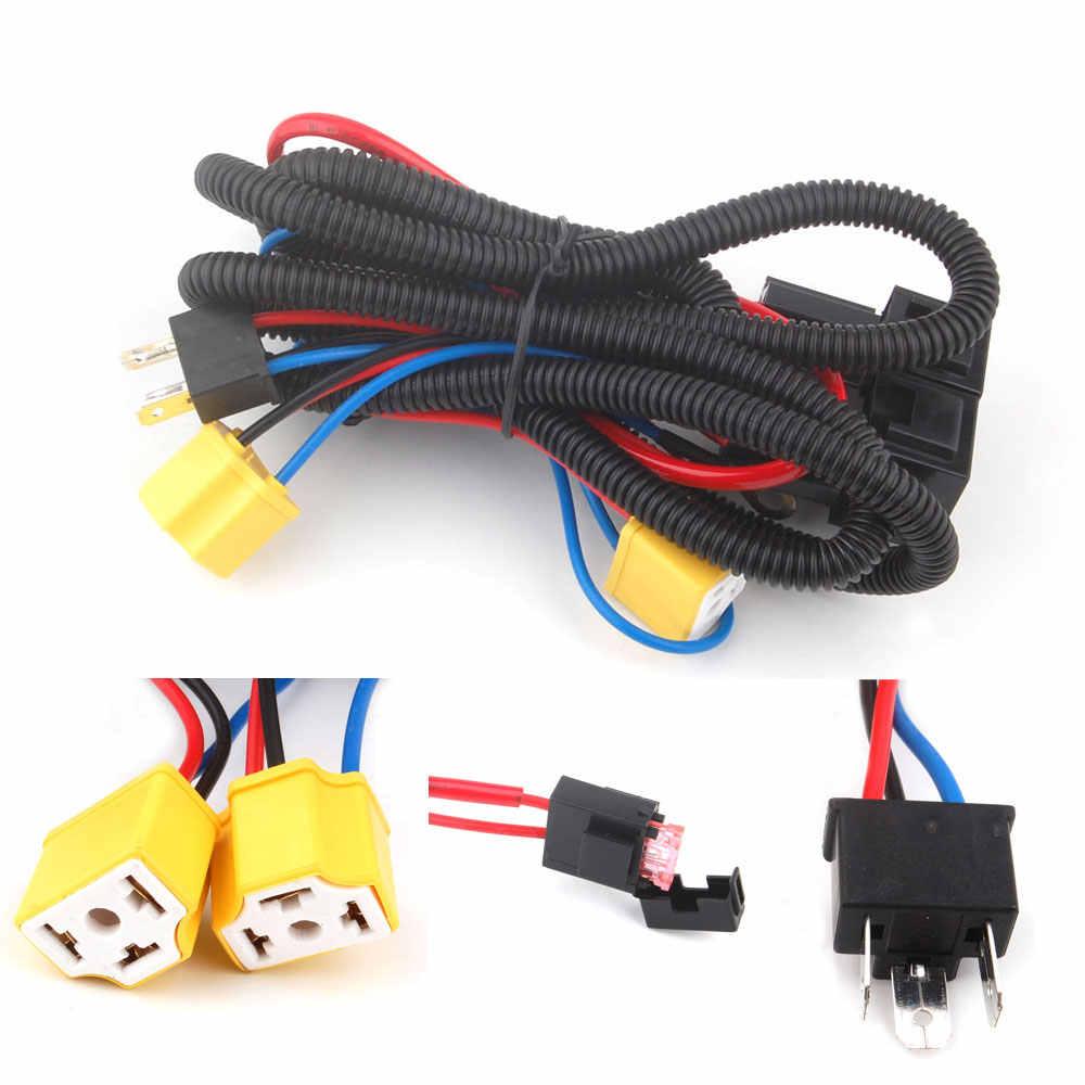 H4 Headlight Fix Dim Light Relay Wiring Harness System 2 ... on