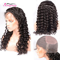 8A Grade Peruvian Virgin Hair Lace Front Wig Deep Wave Customized Hair Line Full Lace Human Hair Wigs In Stock