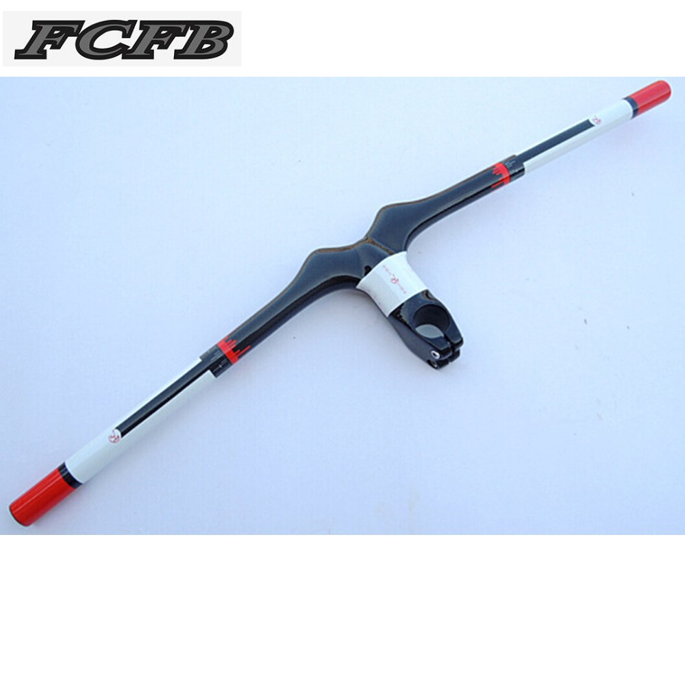 fast ship FCFB FW white red MTB HANDLEBAR Full carbon mountain bike bicycle MTB rise flat handlebar with stem xxx handlebar top fcfb fw red broad brush carbon handlebar set mtb bike rise flat handlebar seatpost carboalumination stem cap washer page 2