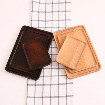 японский деревянный большой тарелки торт фруктовый буфет поднос для завтрака послеобеденный чай лоток для пиццы ресторан кухонные инс
