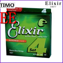 Elixir 14077 bass strings 4 electric bass guitar string 045-105 musical instrument parts guitar accessories