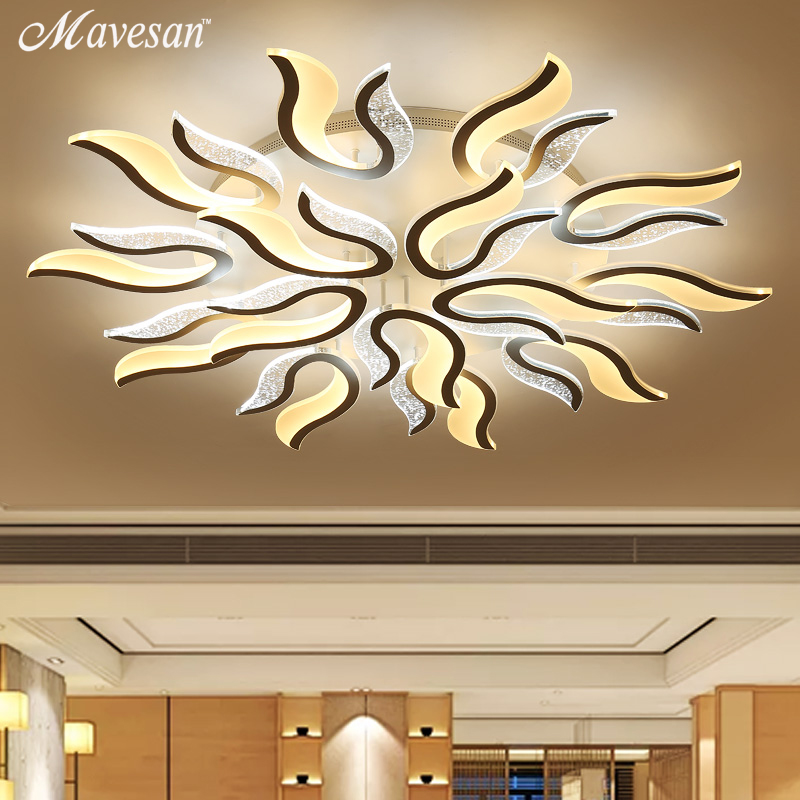 Moderne acrylique LED Plafond Lumières pour Salon Ultra-Mince plafonnier Décoratif abat-jour Lamparas de techo AC90-265V