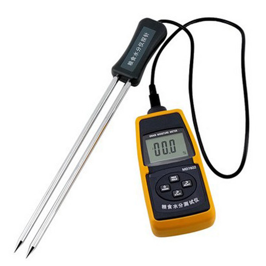 MD7822 Wheat / paddy / rice / maize Moisture detector with temperature compensation function Grain moisture tester mc 7806 digital moisture analyzer price with pin type cotton paper building tobacco moisture meter