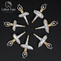 Lotus Fun Real 925 Sterling Silver Natural Pearl Handmade Design Fine Jewelry Elegant Ballet Dancer Pendant