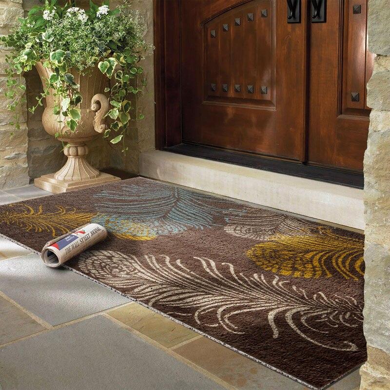 Vente chaude motif géométrique porte tapis tapis de sol pour porche tapis anti-dérapant paillasson décor à la maison couloir entrée tapis de sol - 4