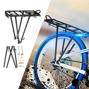 Image 3 - CoolChange bicycle accessories mountain bike transporter cargo rear frame aluminum shelf bicycle rack luggage rack can be loaded