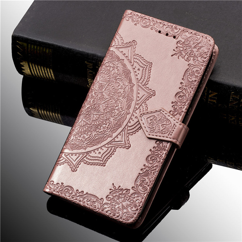 3D Flower Leather Case For Samsung Galaxy A50 A30 A40 A10 S10 S9 S8 S7 J2 Core J3 J5 J7 J1 2016 2017 A6 A7 J6 J4 Plus 2018 Cover(China)