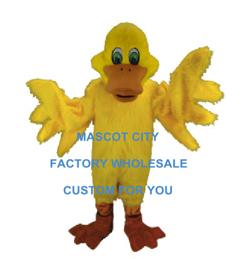 Best Mascot Yellow Duck Mascot Costume Adult Size Cartoon Character Outfit Suit Fancy Dress SW783