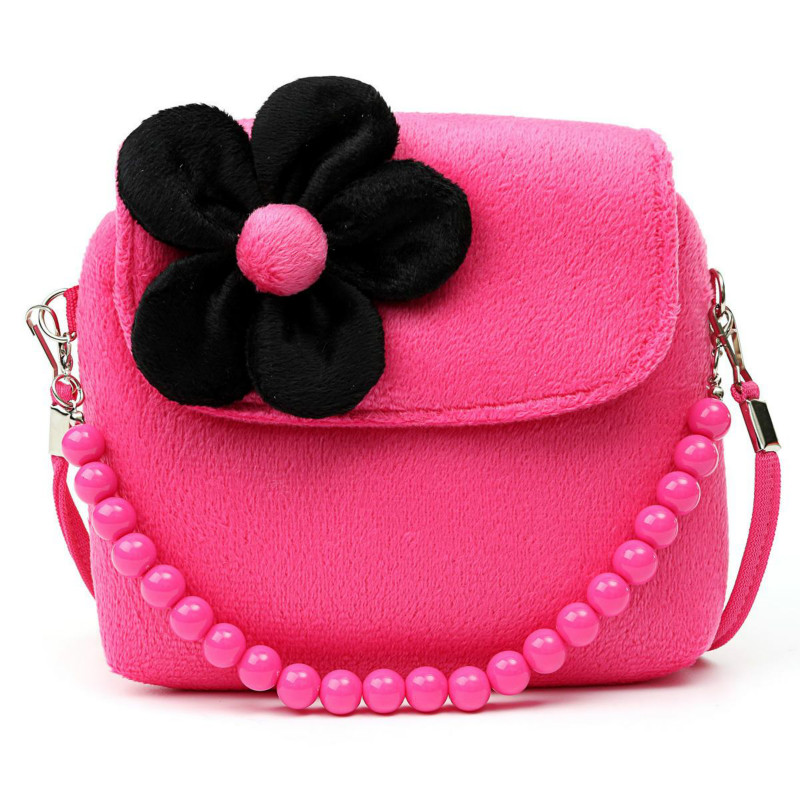 Lovely Baby Girls Mini Messenger Bag Cute Plush Cartoon Kids Baby Small Coin Purses Children Handbags Kids Shoulder Bags Bolsa