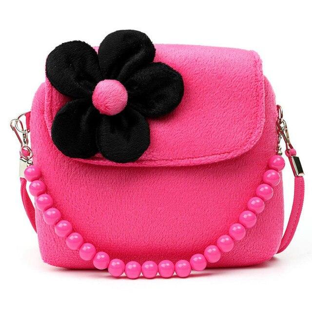 b6a5f003e640 Lovely Baby Girls Mini Messenger Bag Cute Plush Cartoon Kids Baby Small  Coin Purses Children Handbags