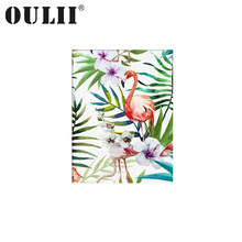 OULII Watercolor Flamingo Canvas Art Print Poster for Home Decoration 50X60CM 30X40CM(Frame Not Included)(China)