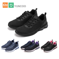 Xiaomi MIJIA EUR40 45 Plus Size Sports Shoes Shock Absorber YUNCOO Casual Breathable Running Women Men Sports Sneakers