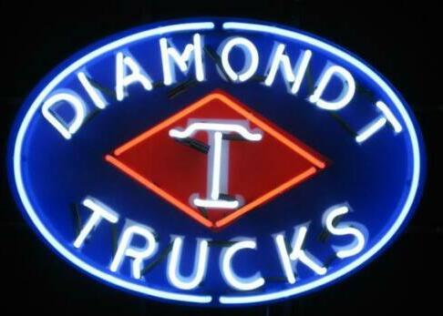 Custom Diamond T Trucks Poster Glass Neon Light Sign Beer Bar