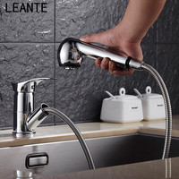 LEANTE Chrome Kitchen Faucet Soup Washing Dish Dishwashing Faucet Trenching Rotating Size Water Cooled Hot Water