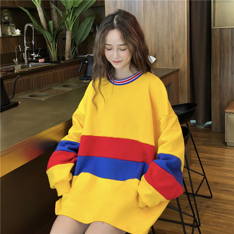 Ulzzang Harajuku Casual Long Loose Womens Pullover