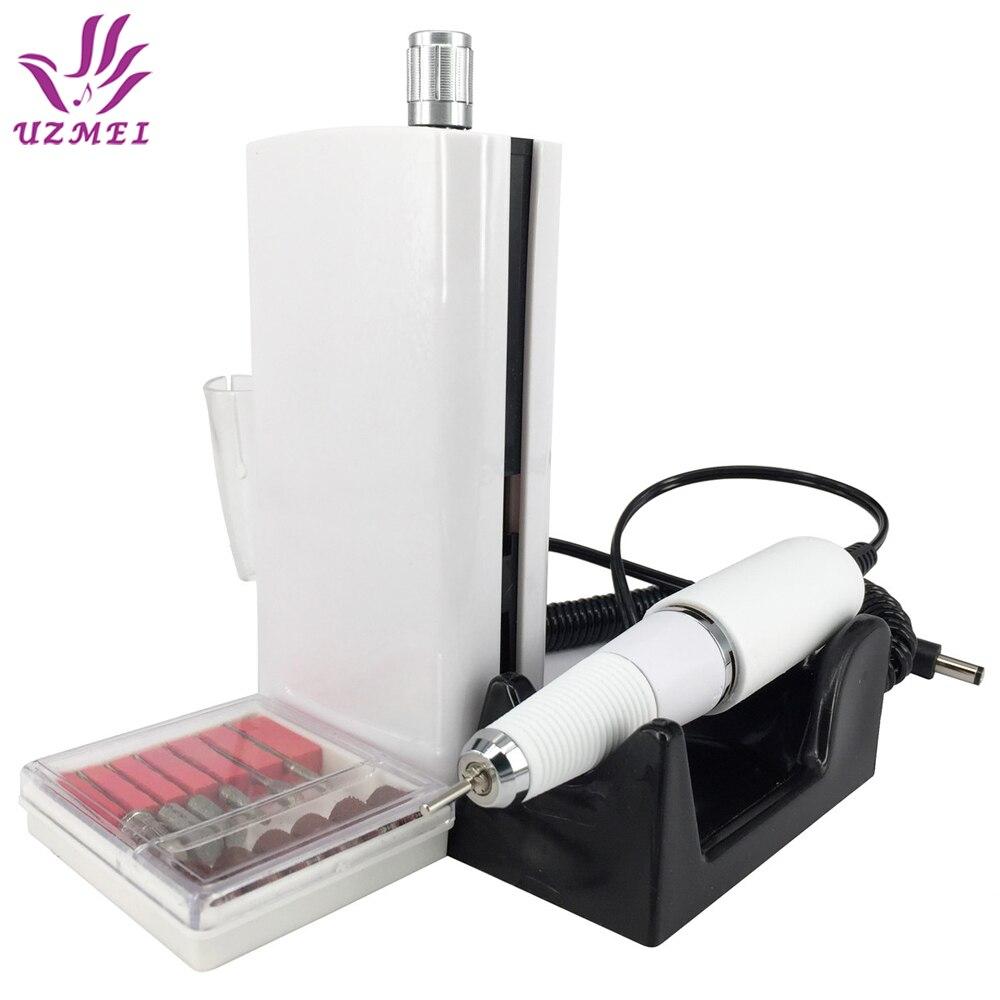 Nouvelle Arrivée 30000 RPM Portable Électrique Nail Forage Machine Rechargeable Sans Fil Manucure Pédicure Set de Polissage des Ongles machine