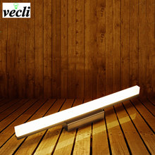 купить 12W 490MM Bathroom Led Mirror Front Light ,LED Stainless Steel Wall Mounted Bathroom Lights AC85-260V Bar Modern Wall Lamps по цене 632.24 рублей