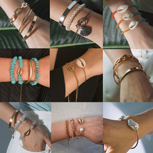 24 Styles 3 Pcs/ Set Bohemian Bracelet Bangles Wedding Vintage Cotton Rope Ethnic Open Bracelet Anklet Beach Jewelry Accessories(China)