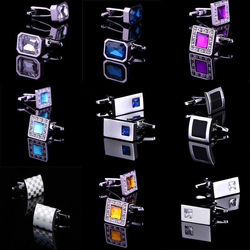 100% Wahr Neuheit Luxus Blau Weiß Manschettenknöpfe Für Herren Lepton Marke Hohe Qualität Crown Kristall Gold Silber Manschettenknöpfe Hemd Manschette Links Fabriken Und Minen