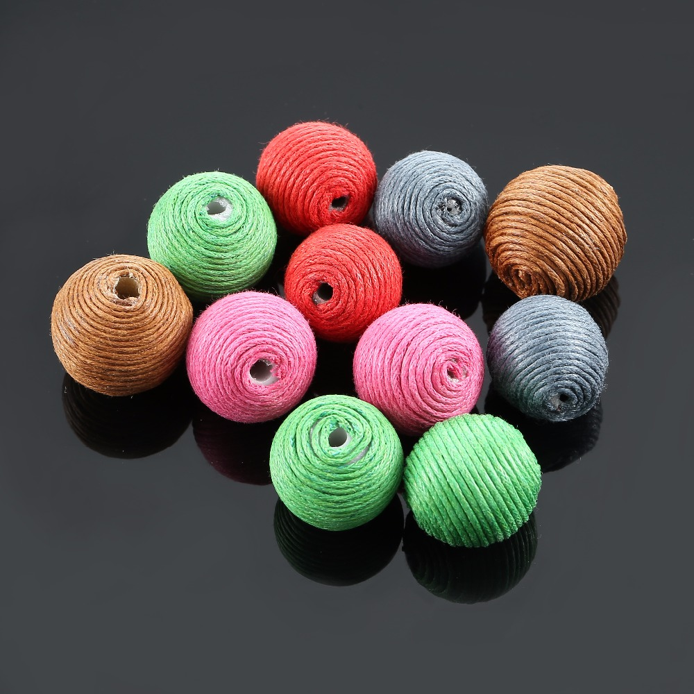 Legenstar 100 pcs/lot 2017 New Fashion Mix Colors Thread Ball For Drop Earring Cloth DIY Jewelry Findings Components Accessories