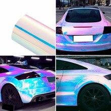 135*30 см Хамелеон стикер для автомобиля s изменение цвета Хромовая виниловая пленка лазерное покрытие автомобиля обертывание наклейка воздушная пленка