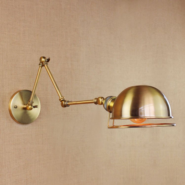 American Vintage Wall Lamps Art Decoration E27 Brass Bronze Bar Restaurant Coffee Shop store Industrial apliques pared light
