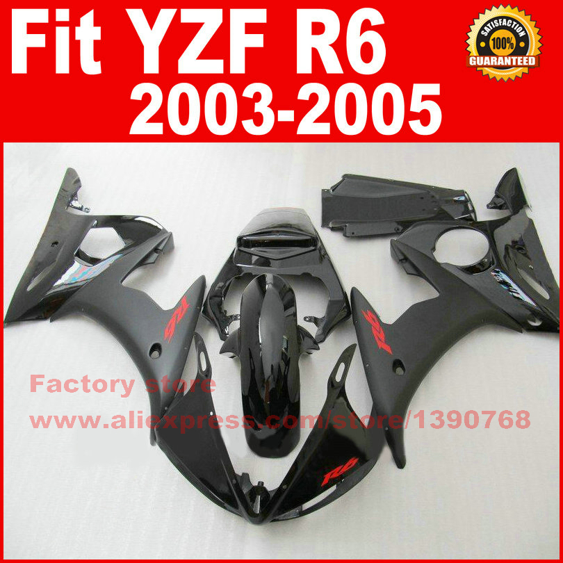 NEW HOT ABS motorcycle fairings kit for YAMAHA R6 2003 2004 2005 YZF R6 03 04 05  full black fairing kits bodywork part 6 colors cnc adjustable motorcycle brake clutch levers for yamaha yzf r6 yzfr6 1999 2004 2005 2016 2017 logo yzf r6 lever