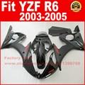 NEW HOT ABS motorcycle fairings kit for YAMAHA R6 2003 2004 2005 YZF R6 03 04 05  full black fairing kits bodywork part