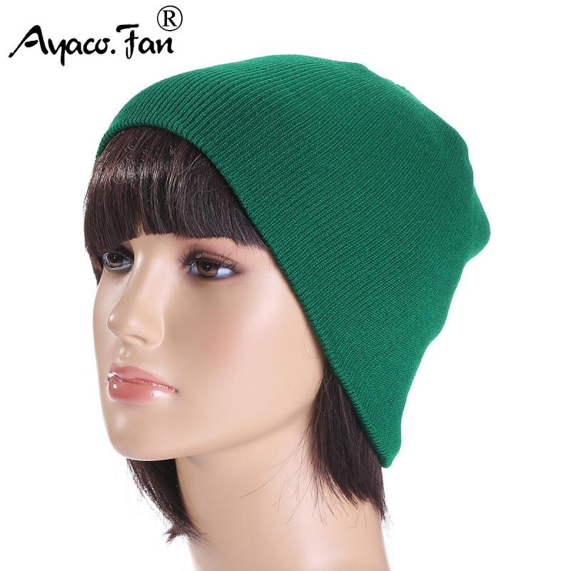 Women Knit Caps Winter 2019 New Solid Knitted Cap   Beanie   Hat for Men Female Autumn Warm Ski Caps Skull Bonnet Casual Short Hats