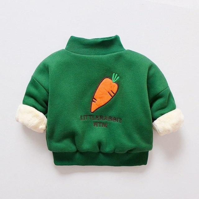 7b71cc709 BibiCola children boys sweater winter thick child coat warm ...