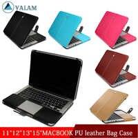 Business Holster PU Leder Laptop tasche Für Apple MacBook Air Pro 11 12 13 15'2016 2017 Neue Pro 13 15 zoll Laptop Flip Abdeckung