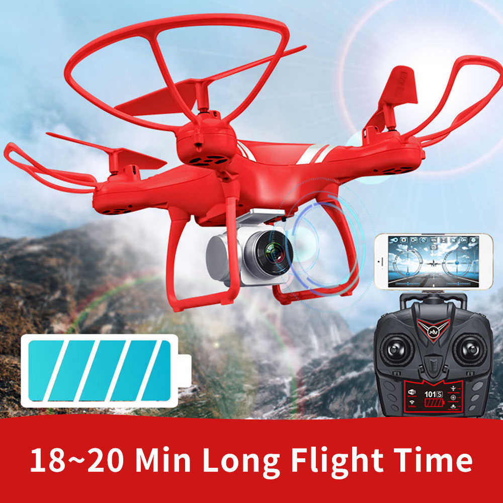 KY101S Long Flight Time RC Drone WIFI FPV With Wide Angle HD Camera  Altitude Hold Headless RC Quadcopter Drone  VS JJRC H36