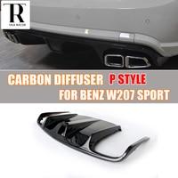 W207 C207 Carbon Fiber Rear Bumper Diffuser Lip Spoiler for Benz W207 E Class Coupe E260 E300 E350 Sport Bumper