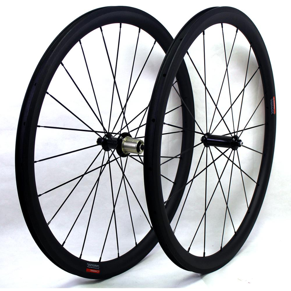 Carbon Road bike wheels 38mm 700C clincher chinese Carbon fiber bicycle cycling racing wheelset rim width