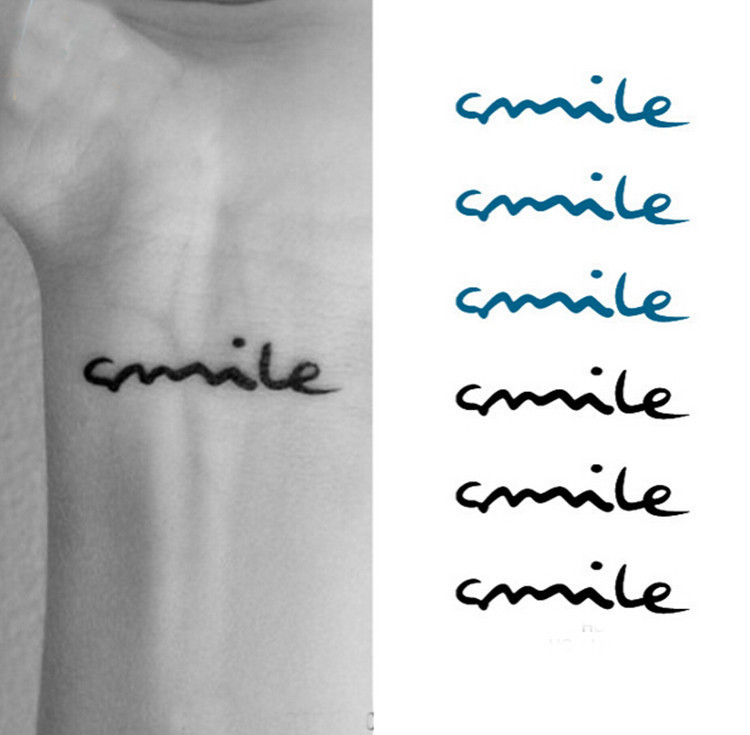 2015 Fashion Women Men Simple Delicate Smile English Sexy Words Temporary Tattoo Body Art Disposable Waterproof Flash Tatoo Tatoo Socks Art Supplies Stretched Canvastatoo Sleeve Aliexpress