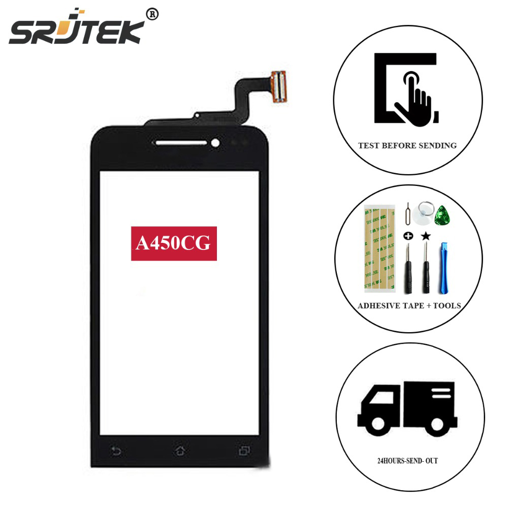 Srjtek Touch screen For ASUS Zenfone 4.5 A450CG Touch Screen Digitizer Replacement Parts Tested 4.5 inch For A 450 CG