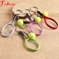Mini llave de Metal de la cadena de raqueta de Tenis hecho a mano recuerdo lindo raqueta de Tenis clave de cadena de la bici del coche regalo de la novedad l335OLE