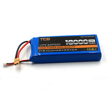 TCB RC LiPo Battery 3s 11.1v 10000mAh 25c for RC Airplane Drone Helicopter Car Boat Li-ion Cell Batteria AKKU
