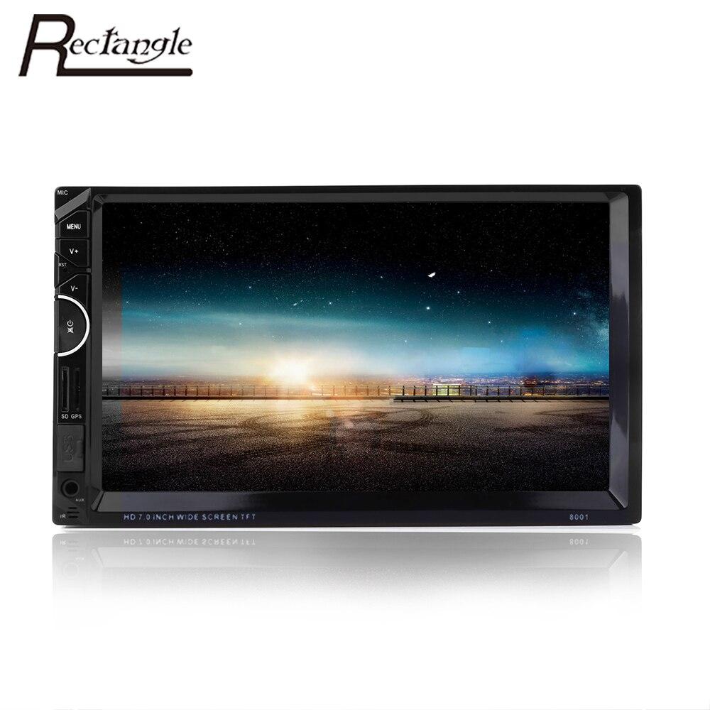imágenes para Rectángulo Universal 2 din Reproductor de Vídeo Del Coche de Navegación GPS Bluetooth Auto Audio Estéreo Reproductor de DVD Del Coche MP5 Con cámara de Visión Trasera cámara