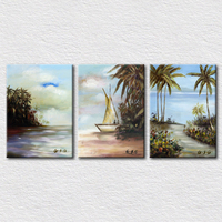 The tropic area scenery painting pictures for living room decoration modern decorative wall hangings art