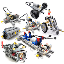 цена на NEW Engine Cylinder Technic Car Blocks Power engine Cylinder model Building Bricks Toy Compatible with logos V8 V12 W16 Technic