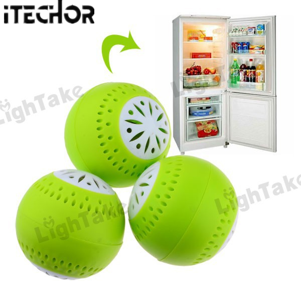 ITECHOR 2 Sets/ Lot  3 In 1 Fridge Deodorant Refrigerator Odor Absorber Removal Fresh Balls Household Air Purification